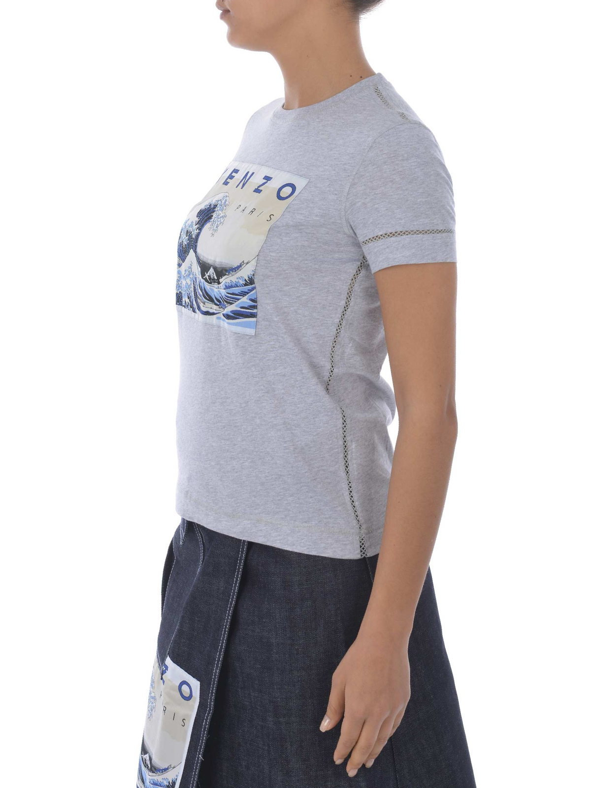 9b72fe5b9606 Kenzo - Kanagawa Wave T-shirt - t-shirts - F851TS749995 93 | iKRIX.com