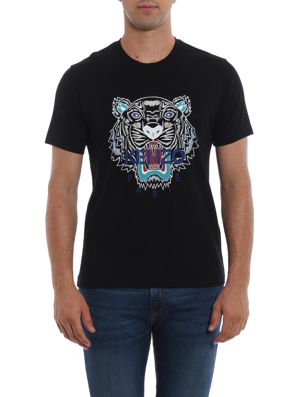 b7a77f5c1 Kenzo - Kenzo Paris Tiger black T-shirt - تی شرت - F865TS0504YA99