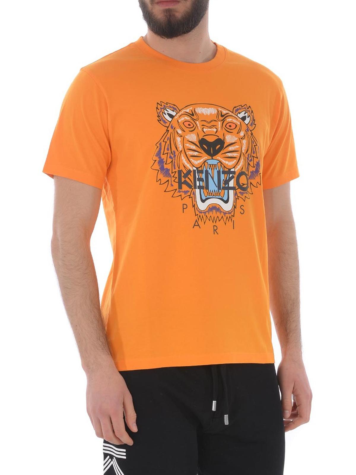 1df27d5aa8 Kenzo - Orange cotton Tiger print T-shirt - t-shirts - F955TS0504YA 17