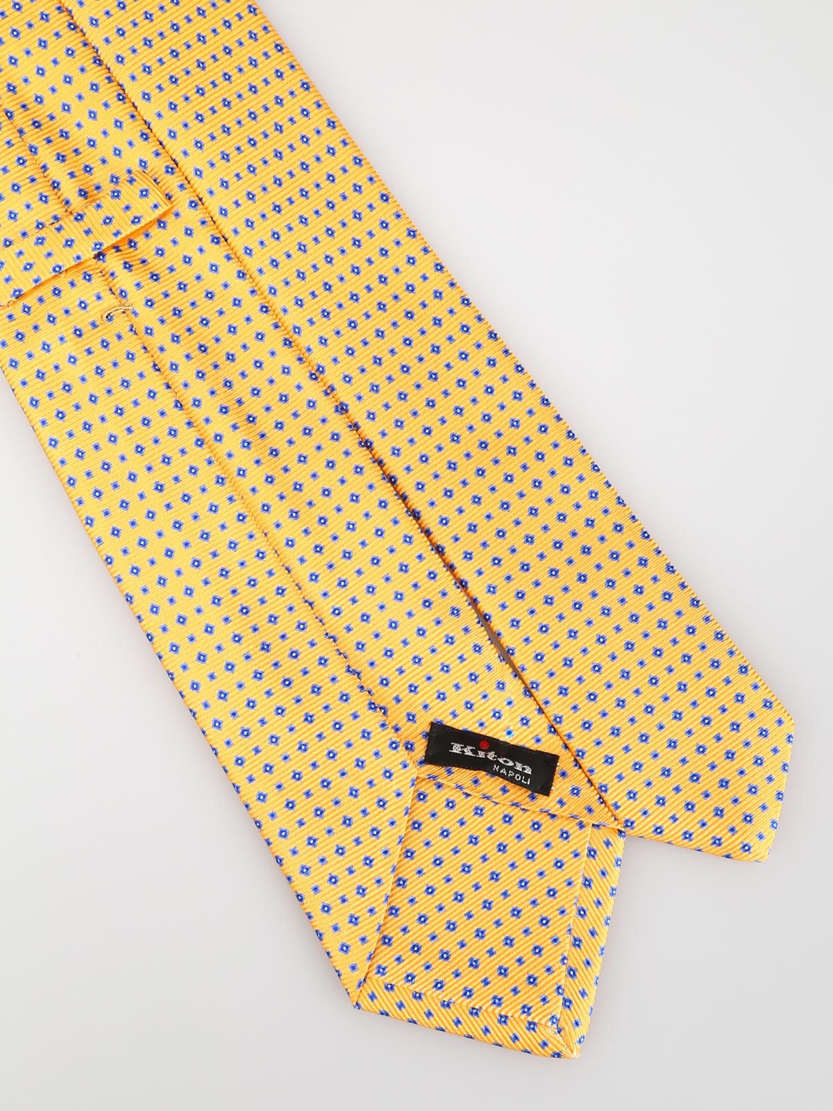 la migliore vendita codice coupon elegante Kiton - Cravatta gialla a motivo geometrico - cravatte e papillion ...