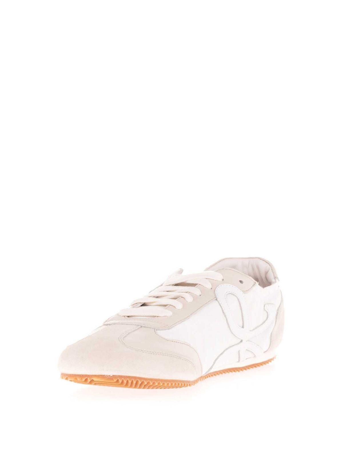 white ballet trainers