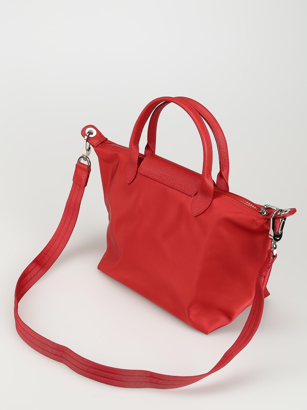 Longchamp - le Pliage Neo red nylon hand bag - totes bags - 1512578545
