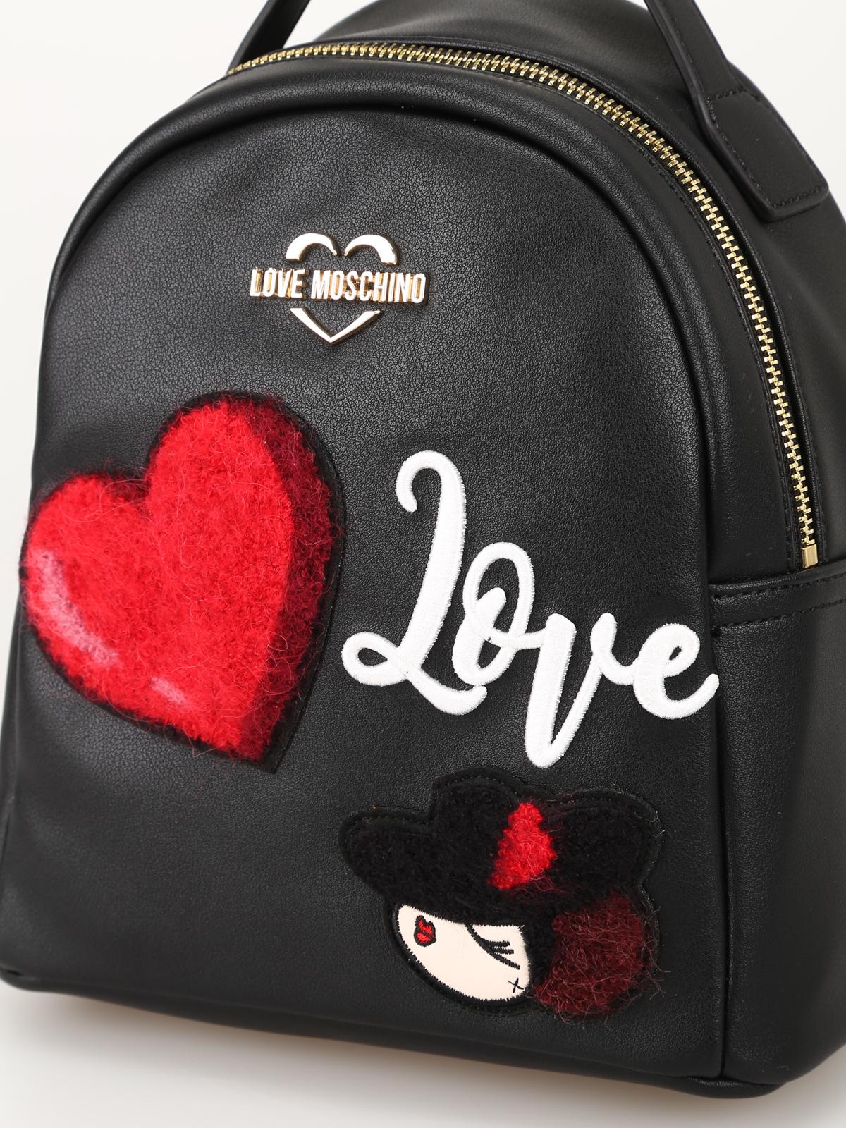 Love Moschino Piccolo Zaino In Ecopelle Con Charming Doll