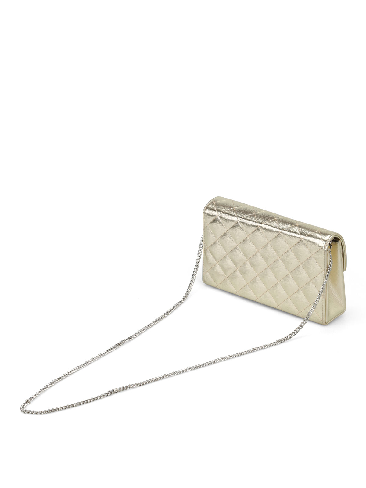 d8f734e4fd0 Love Moschino - Gold-tone quilted clutch - clutches - JC4289PP05KT0901