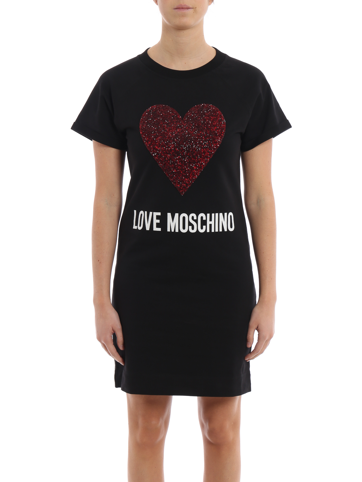 Cuore Stretch A In Moschino Felpa Abito Love By Maxi