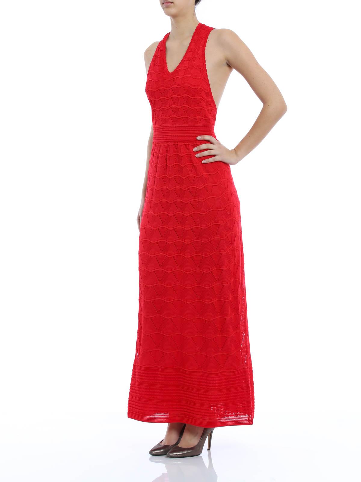 M Missoni - Chevron patterned dress - evening dresses - KD0KD15022P 947