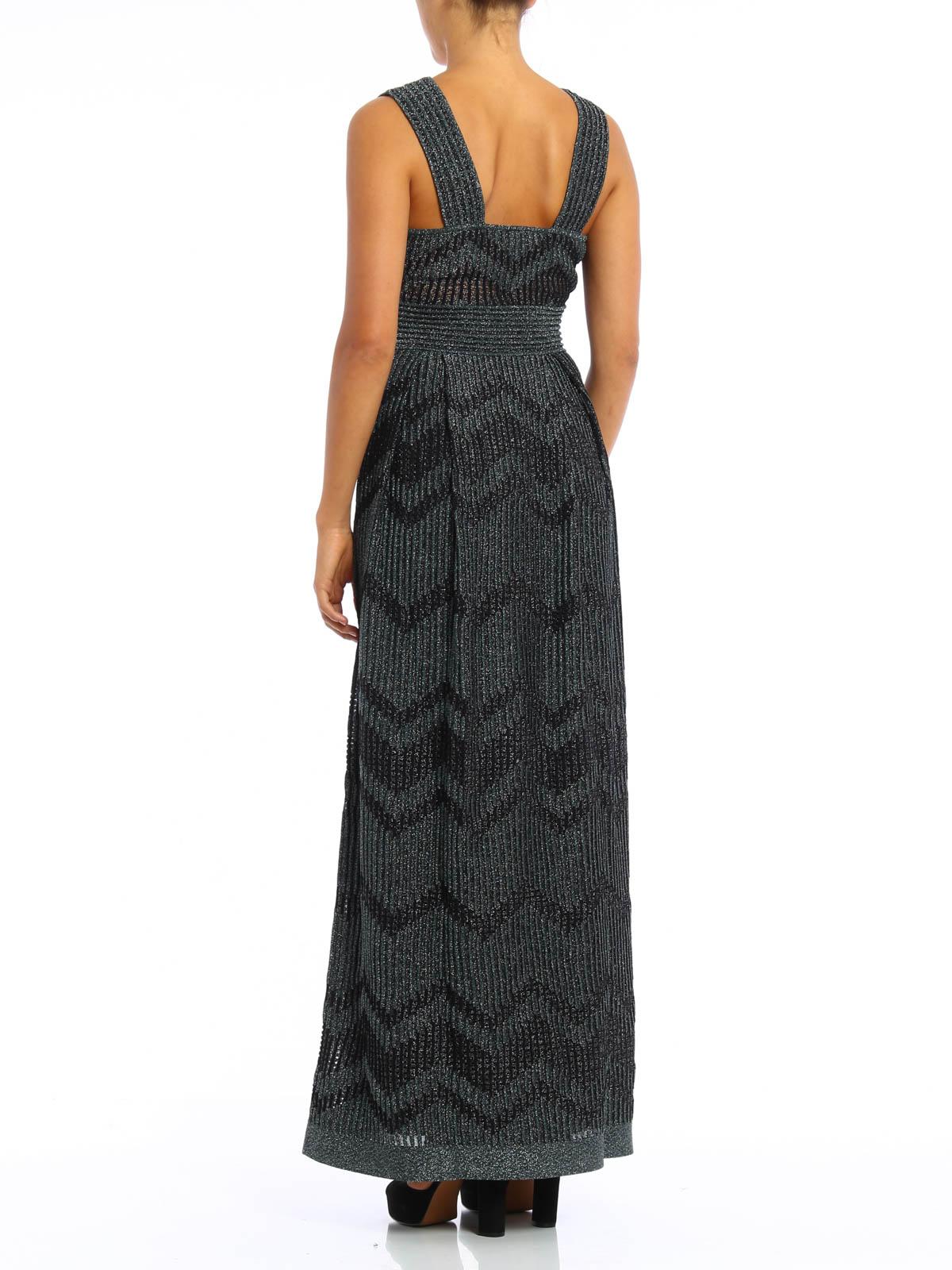 M Missoni - Embellished chevron evening dress - evening dresses ...