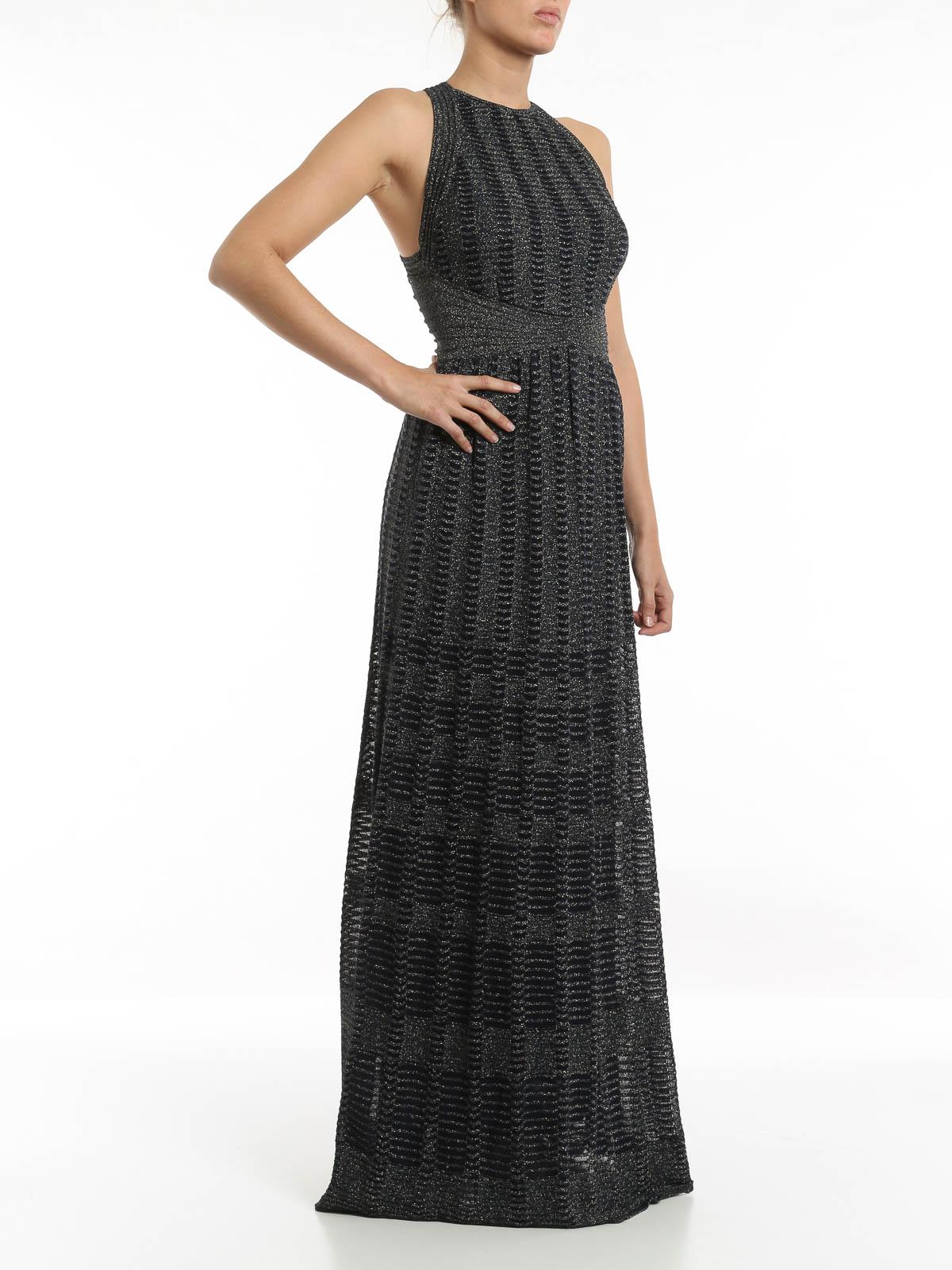 Lurex-knit dress by M Missoni - evening dresses   iKRIX