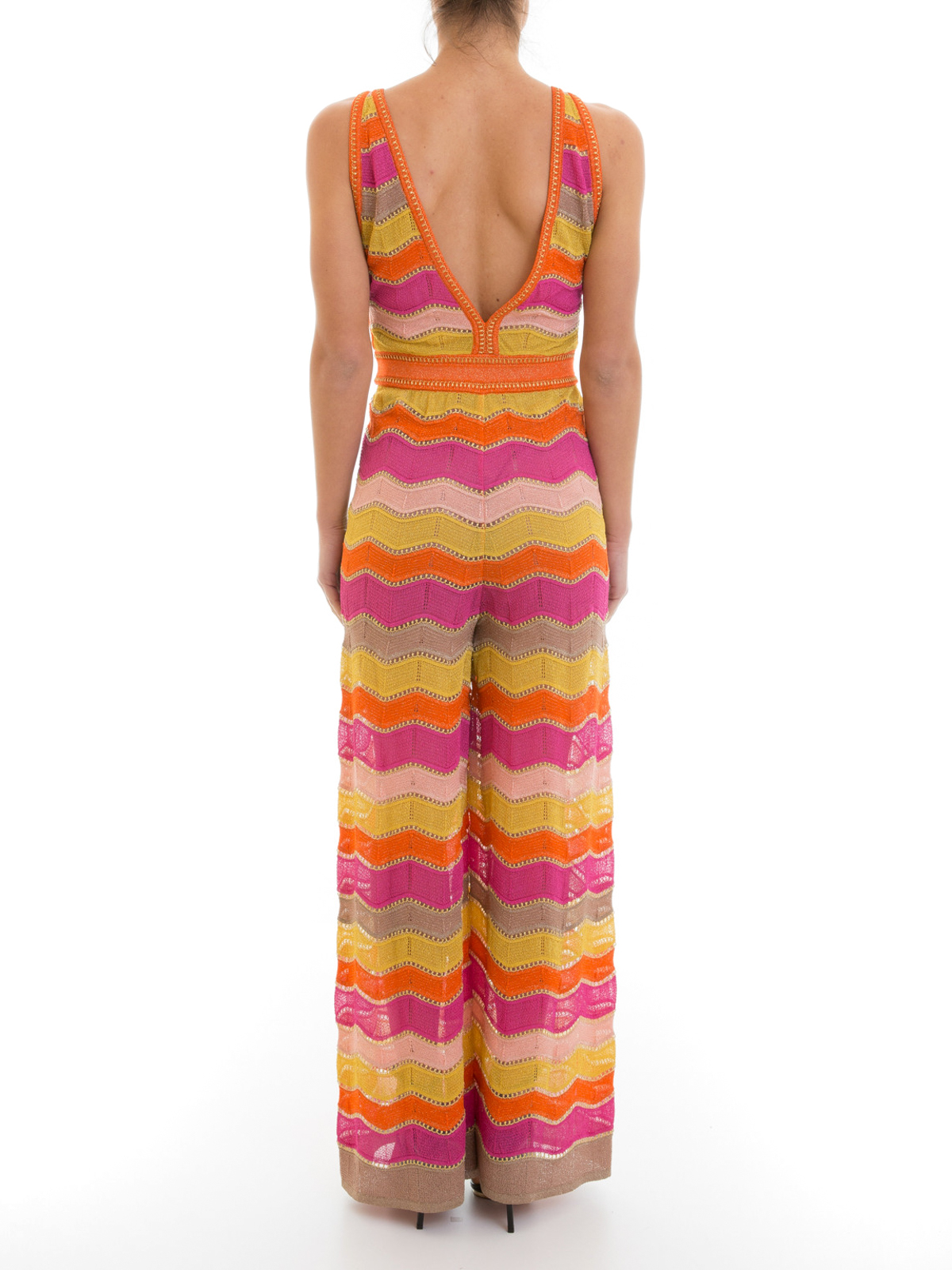 iKRIX M Missoni: jumpsuits - Lurex chevron patterned jumpsuit