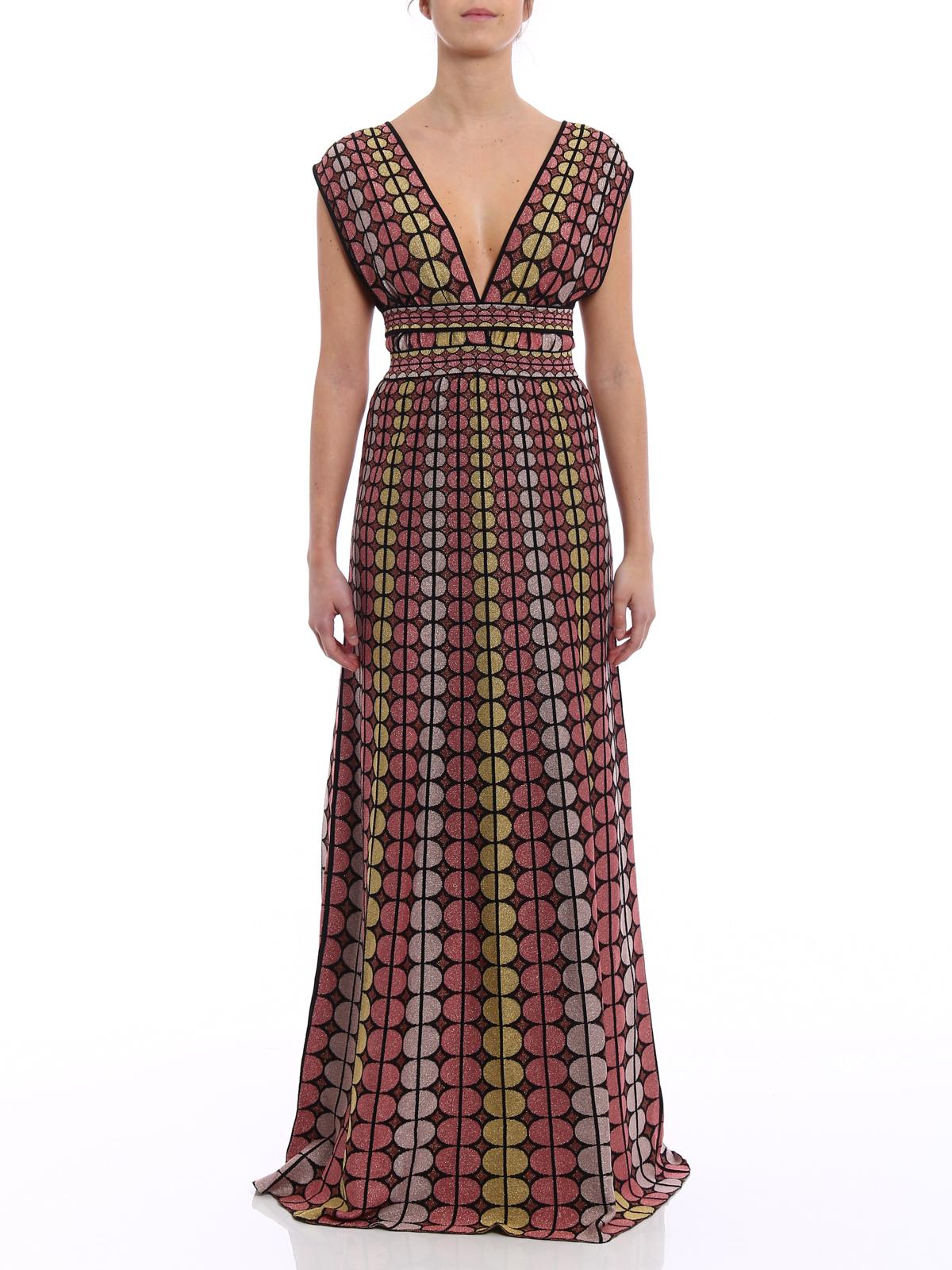 timeless design 73932 5cb0a M Missoni - Maxi abito in maglia con cintura - abiti lunghi ...