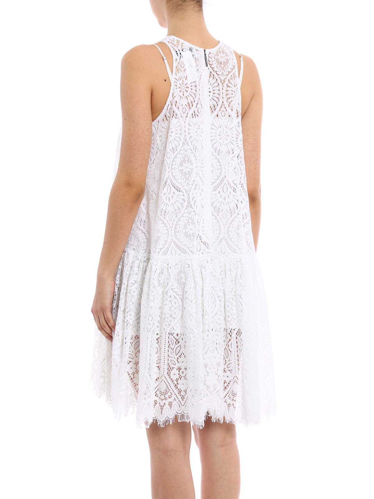 Msgm Lace Loose Fit Dress Knee Length Dresses