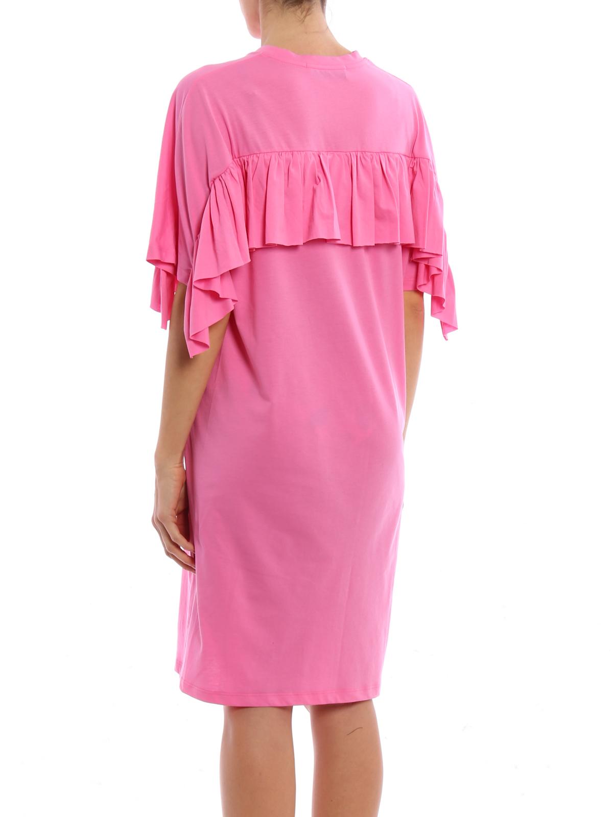 M.S.G.M. - Ruffled T-shirt cotton dress - short dresses ...