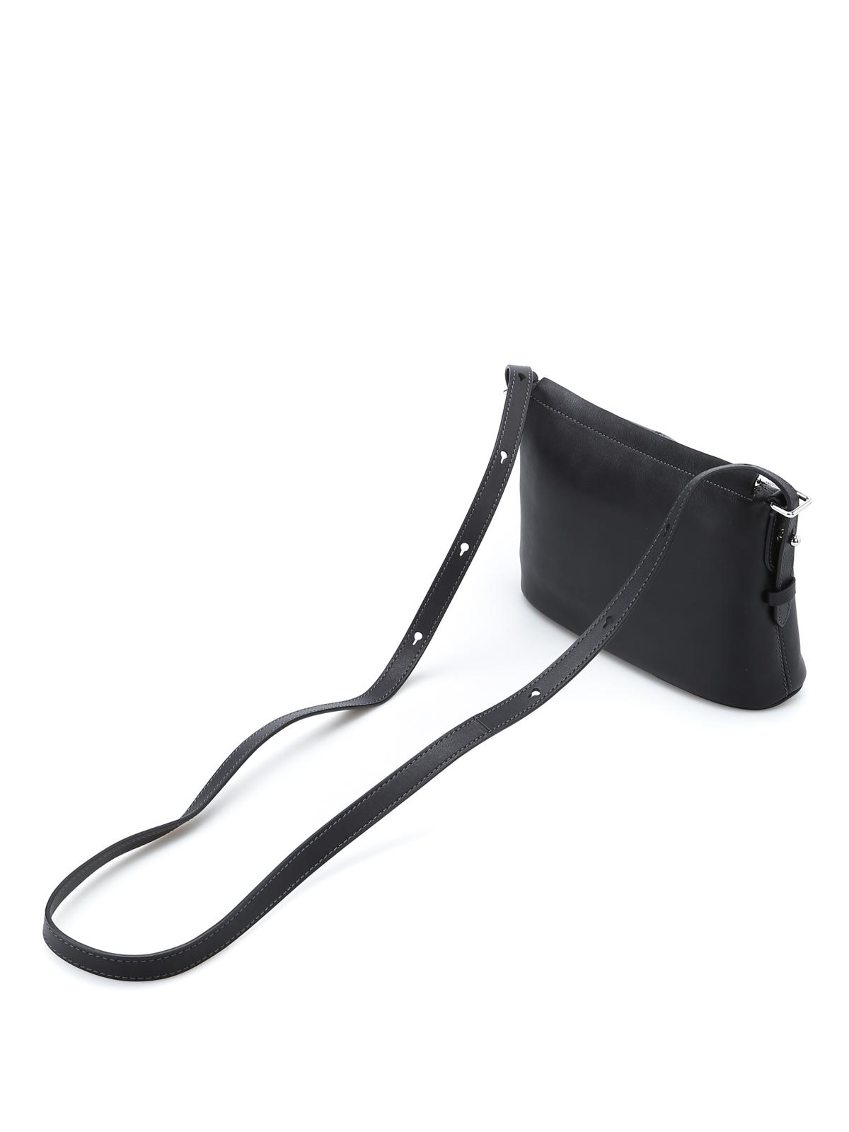 7d092ea574 iKRIX MARC JACOBS  cross body bags - Side Sling black leather bag