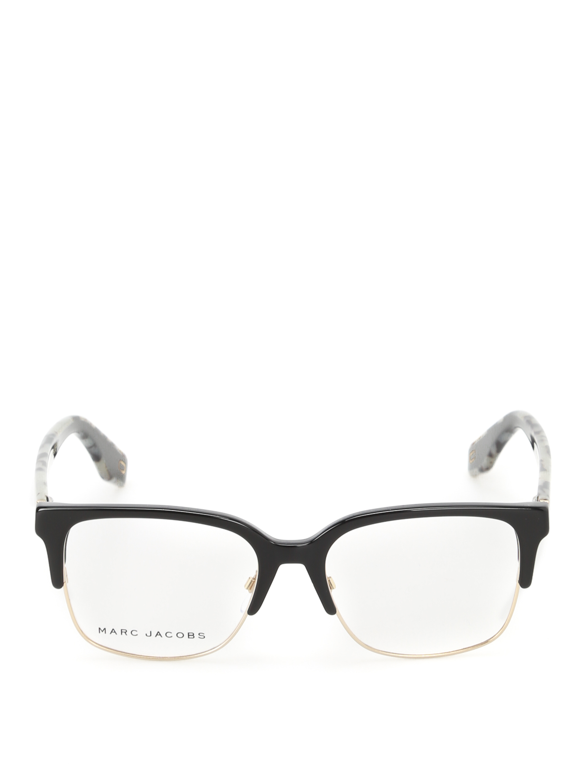 1444fa5fb9f57 Marc Jacobs - Black and gold half frame glasses - glasses - MARC27680717