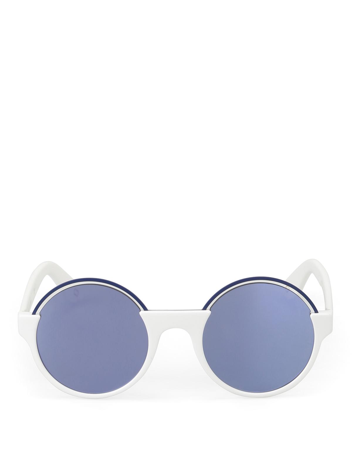 nuovo prodotto 3a8ab 91a2c Marc Jacobs - Occhiali bianchi lenti specchiate - occhiali ...