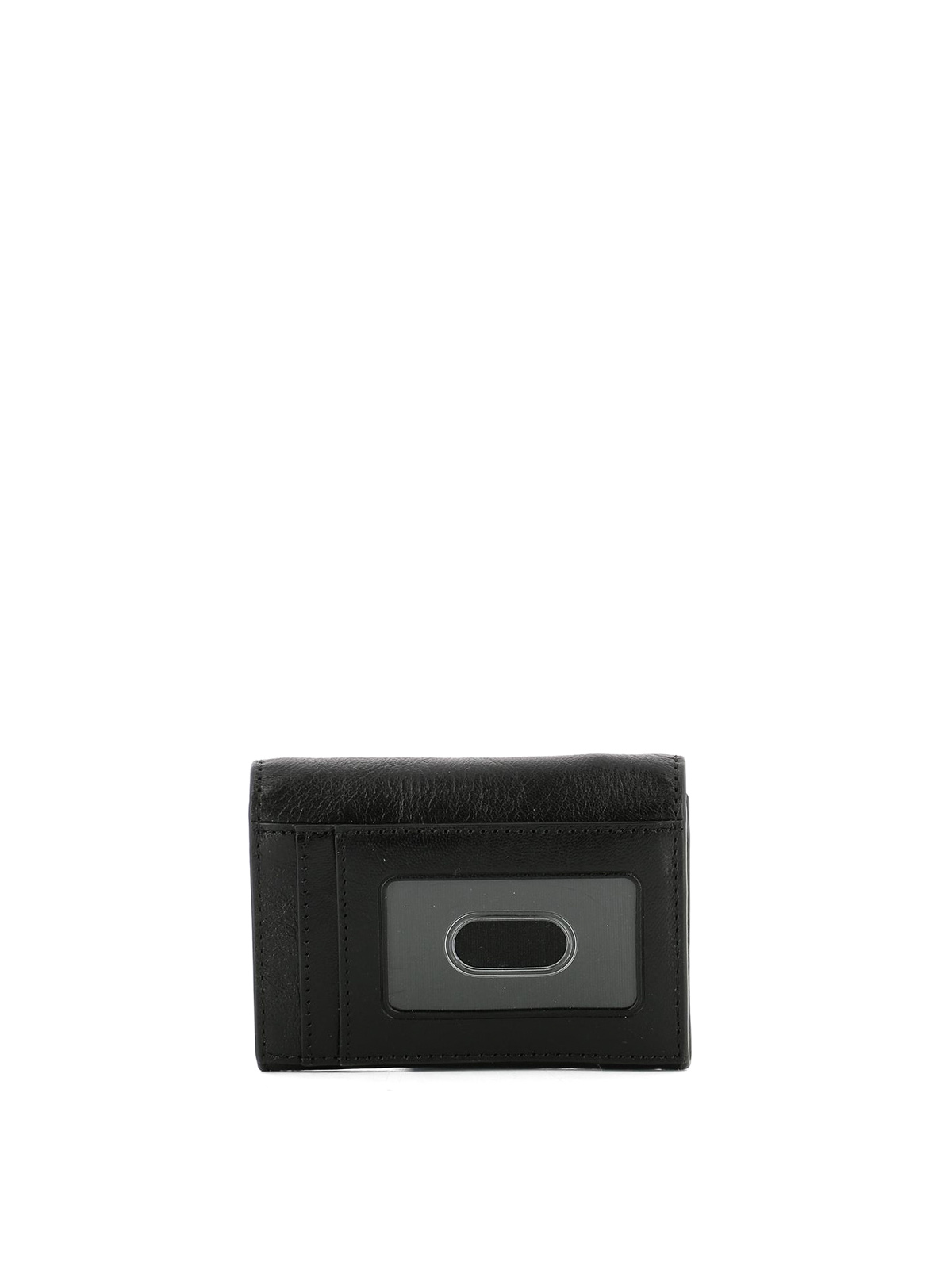 Gold-tone logo leather card holder by Marc Jacobs - wallets & purses ...