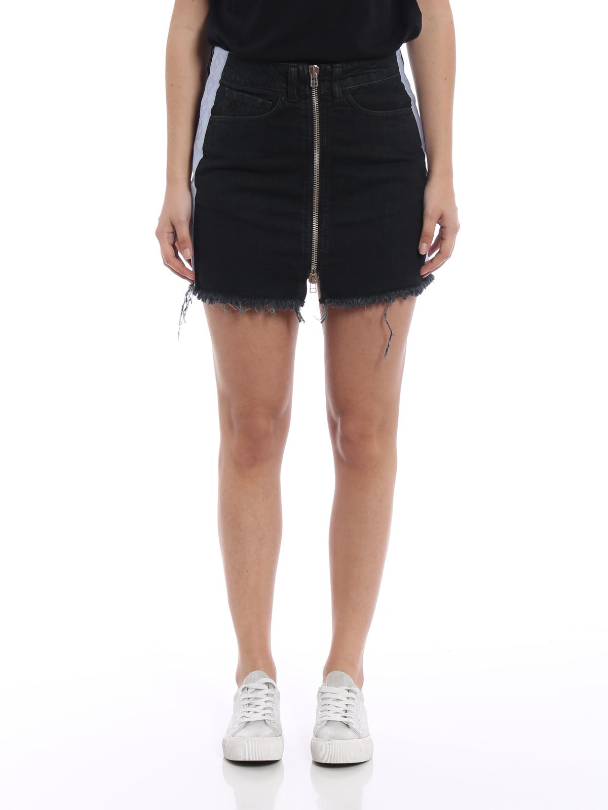 Cross tape denim skirt - Black Marcelo Burlon Cheap Sale For Nice Clearance Shop For WbW9bWYj8C