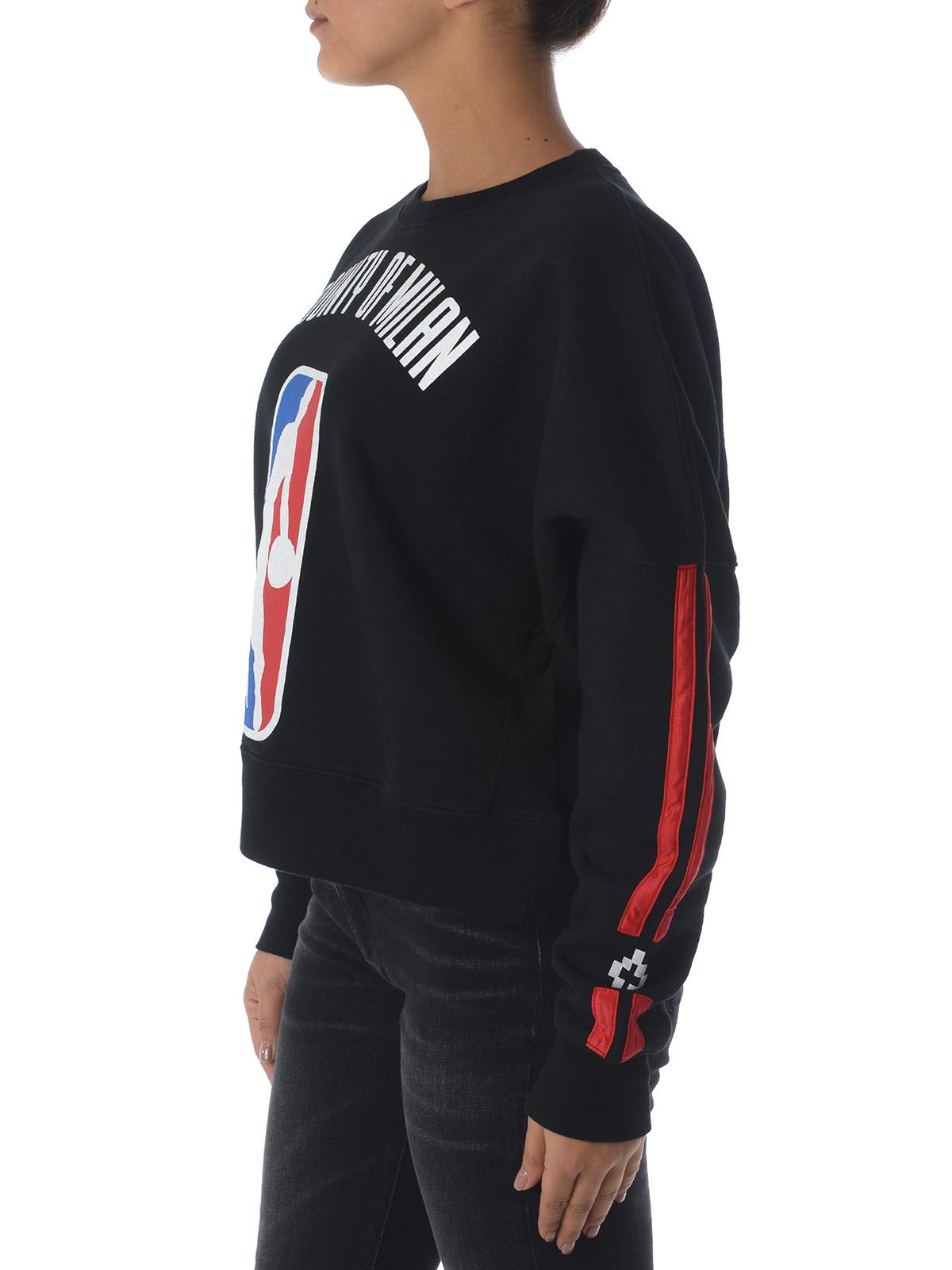 miglior servizio 802a0 6ea97 Marcelo Burlon - Felpa in jersey nero con stampa NBA - Felpe ...