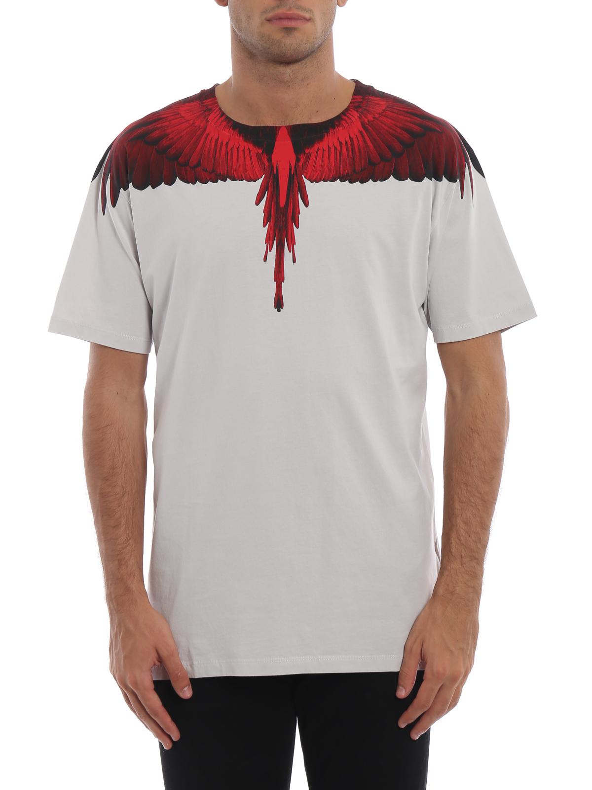 Marcelo Burlon Red Wings Pearl Grey Cotton T Shirt T Shirts