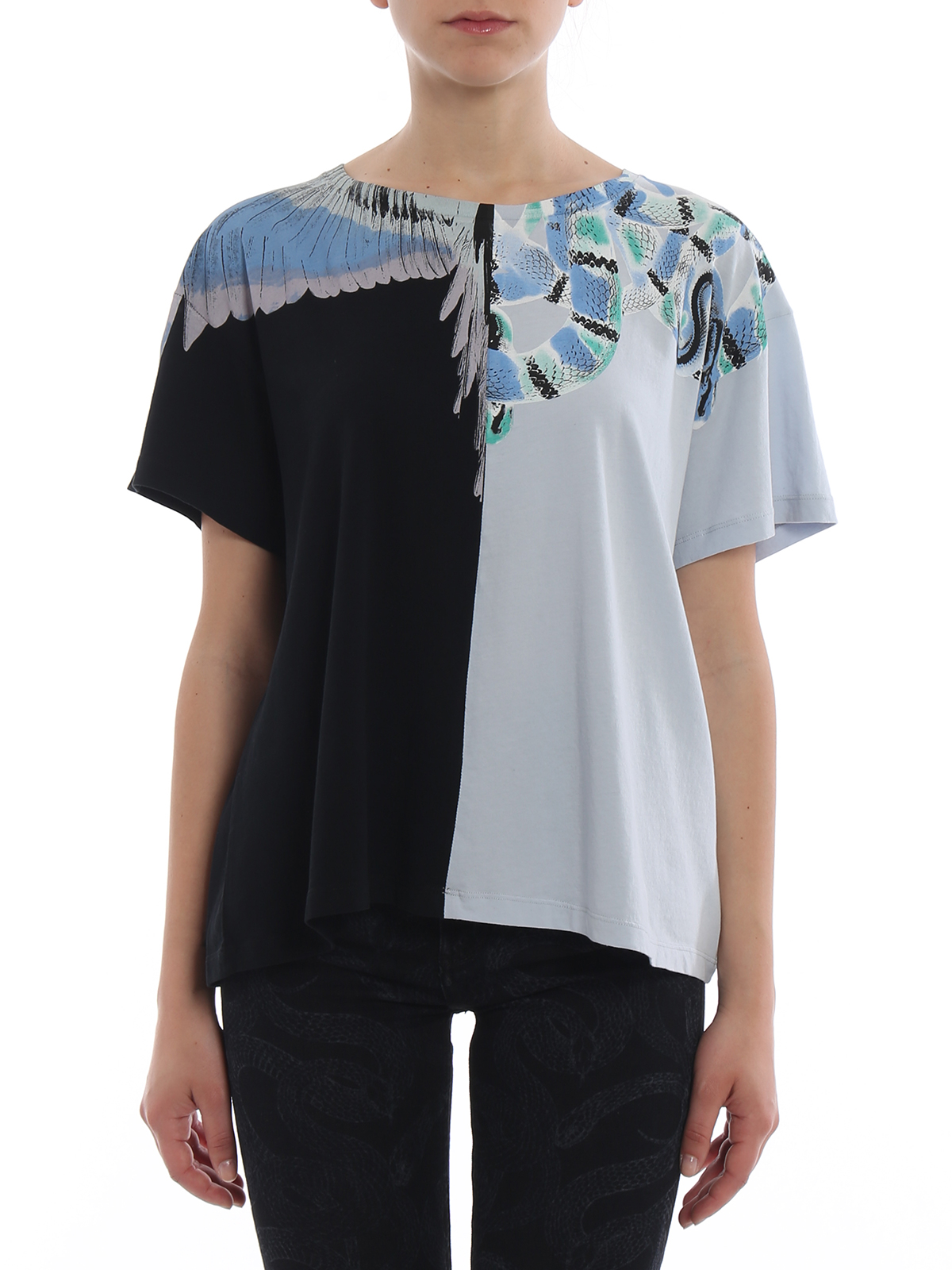 bd3b8991 iKRIX Marcelo Burlon: t-shirts - Snake Wings colour block T-shirt