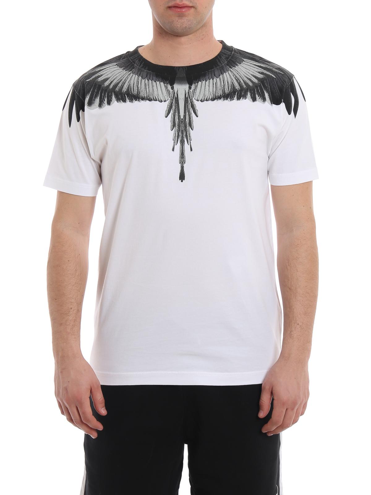 Burlon shirt T Bianca Wings Ikrix Marcelo Cotone bg6fy7