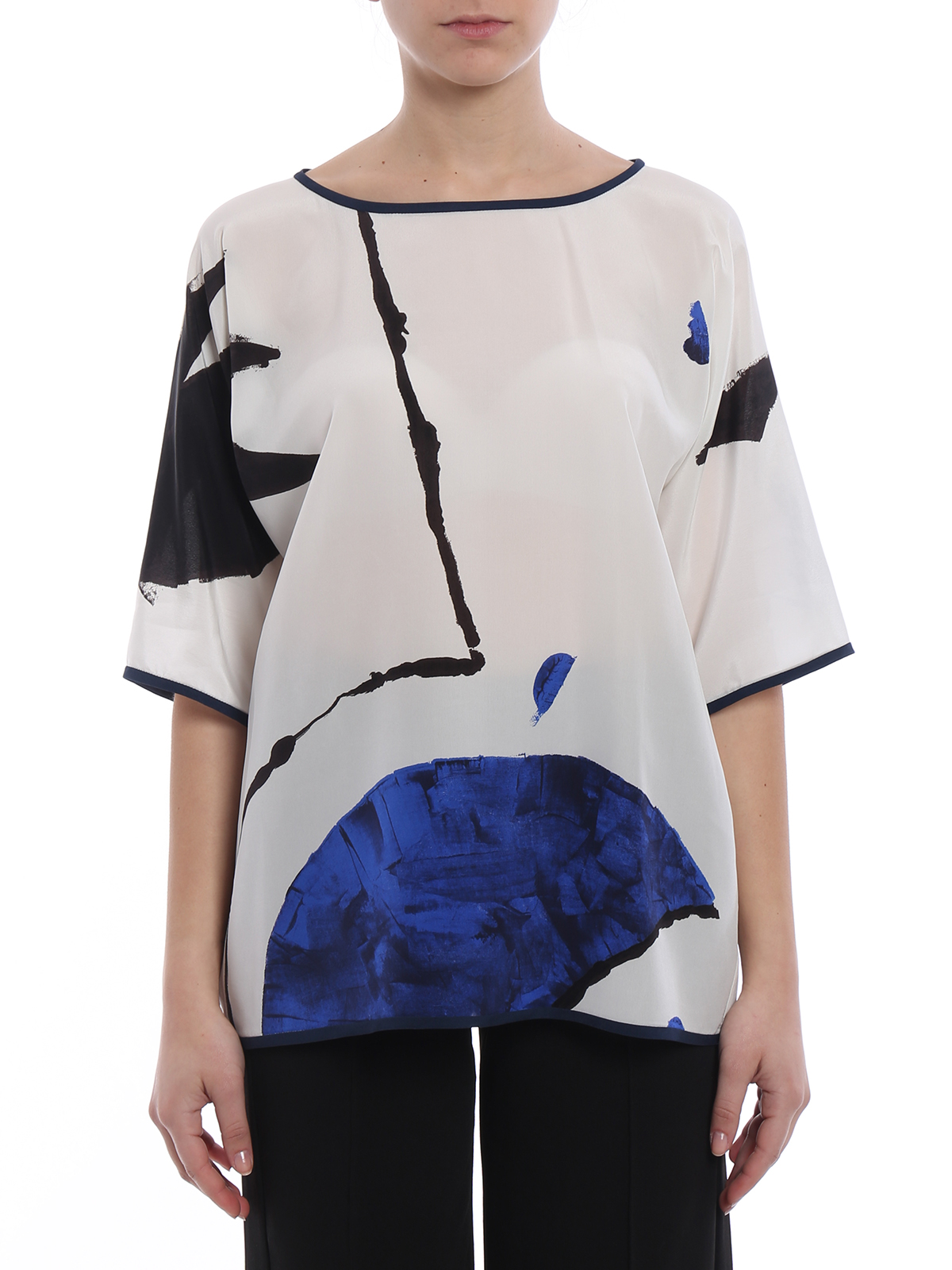 Cheapest Price Clearance Shop For cropped sleeve blouse - Blue Max Mara IRhNq1Nin7
