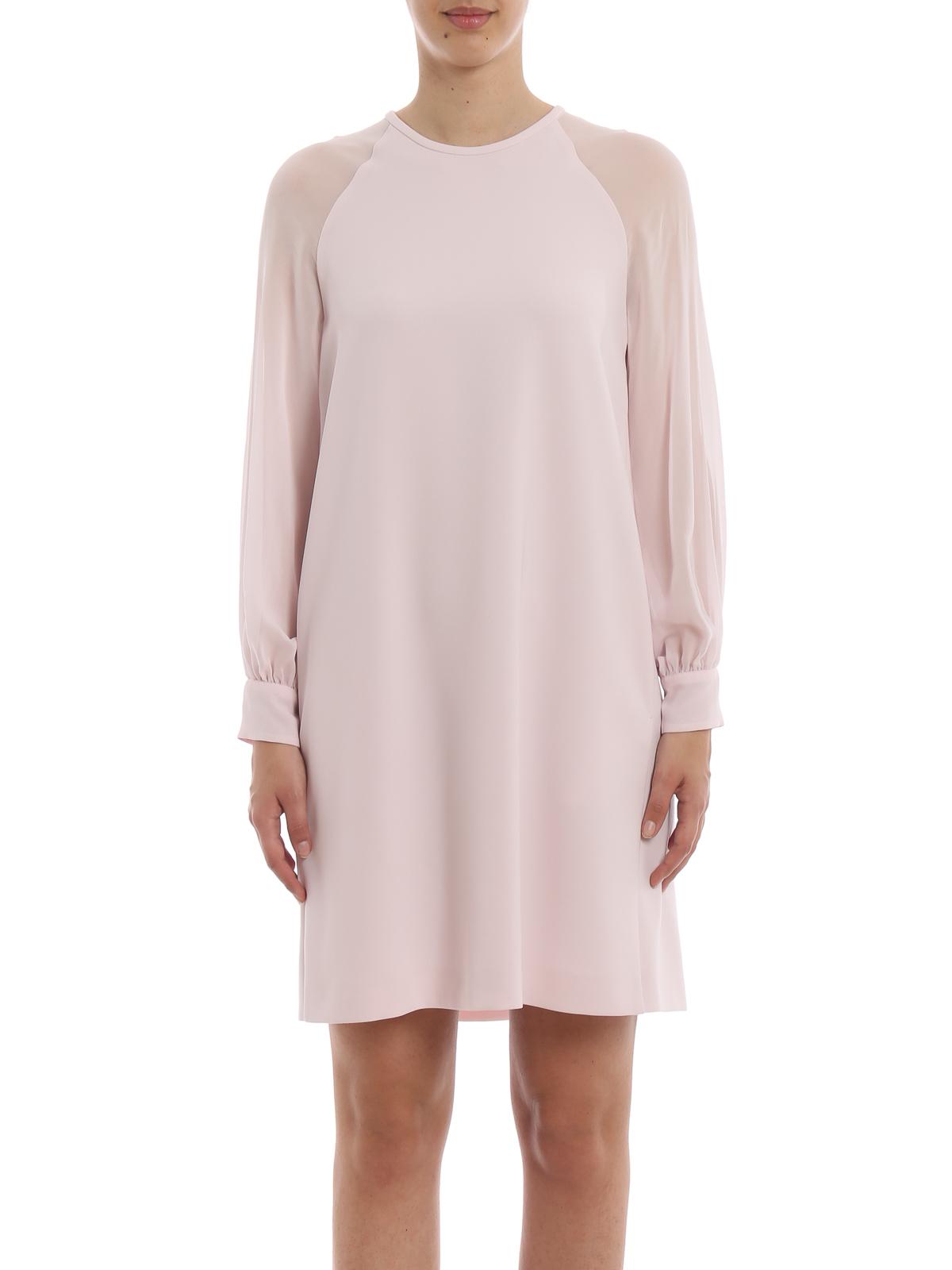 e97a35230e0 iKRIX Max Mara  knee length dresses - Slogan light pink dress