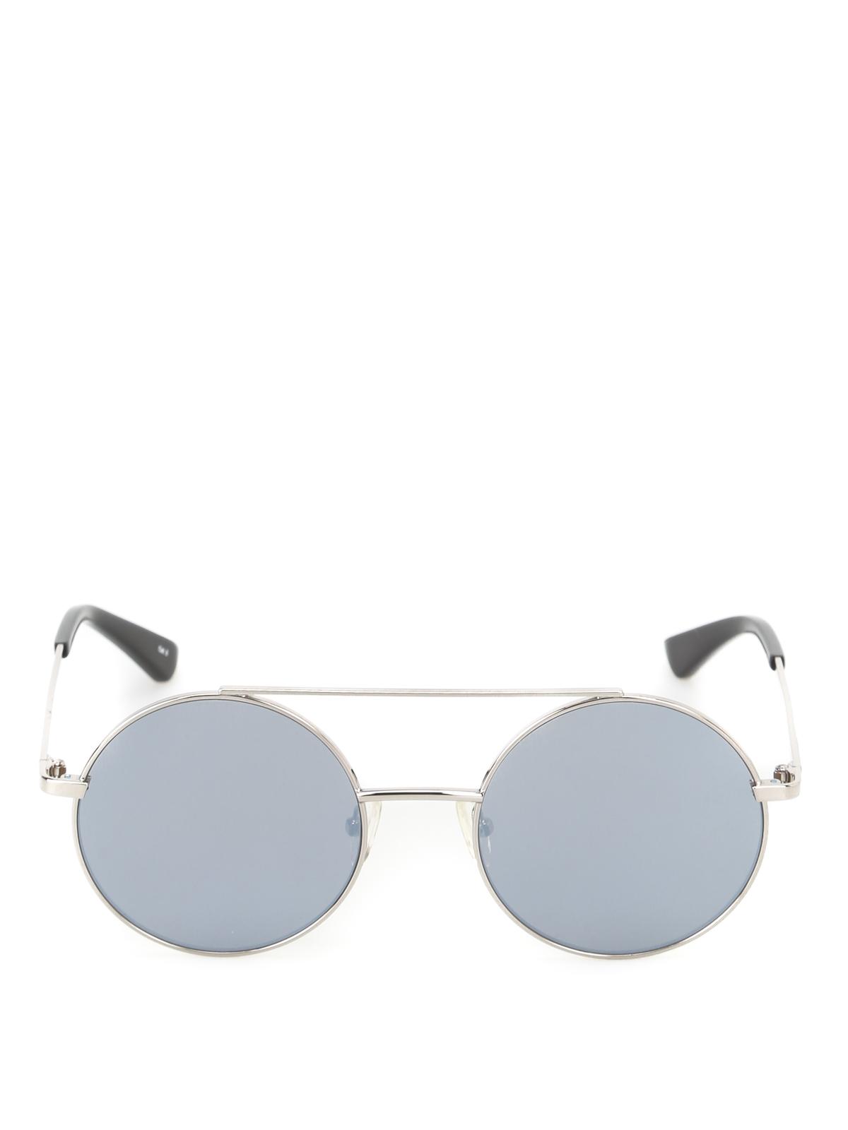 Occhiali Rotondi Lenti A Specchio Mcq Occhiali Da Sole