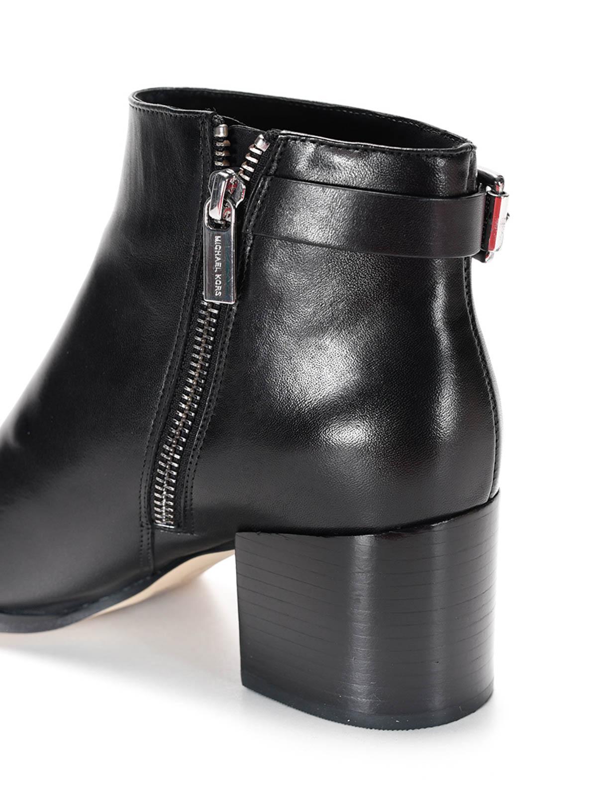 michael kors saylor leather ankle boots ankle boots. Black Bedroom Furniture Sets. Home Design Ideas