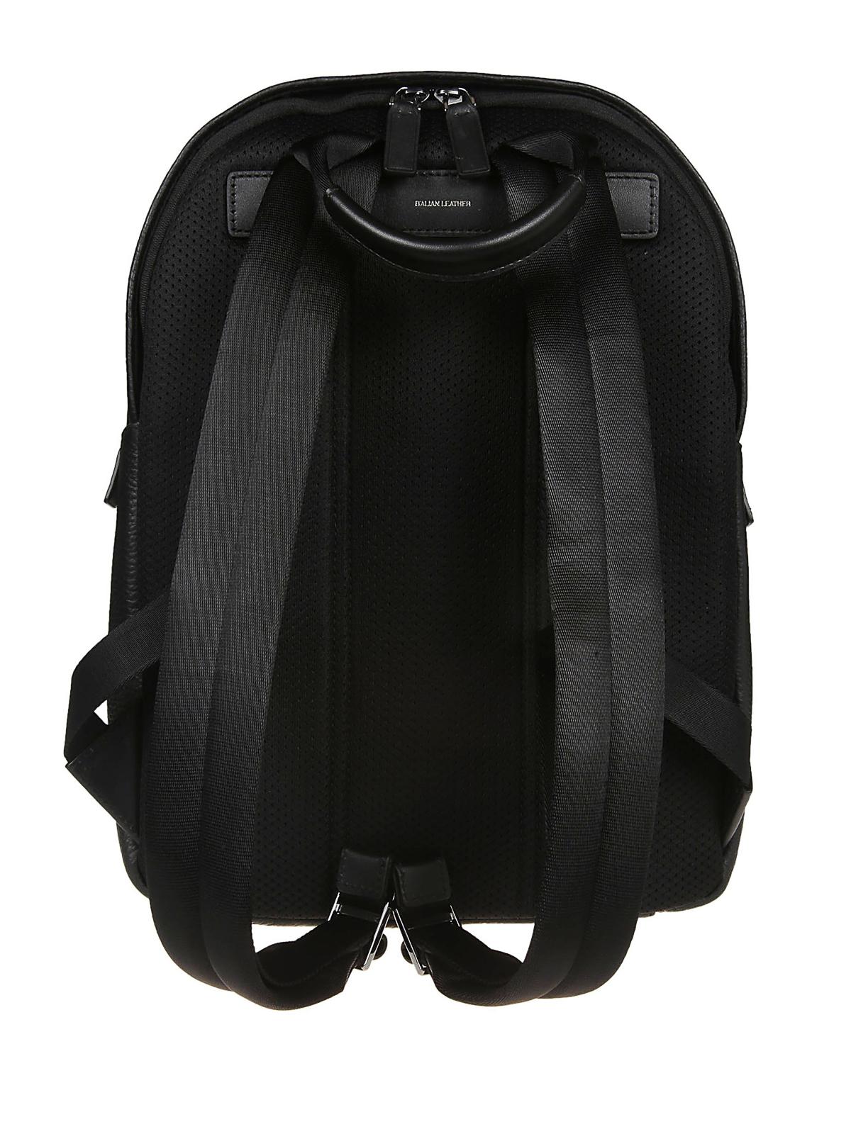 67b3f320455c9d iKRIX MICHAEL KORS: backpacks - Greyson black pebble leather backpack