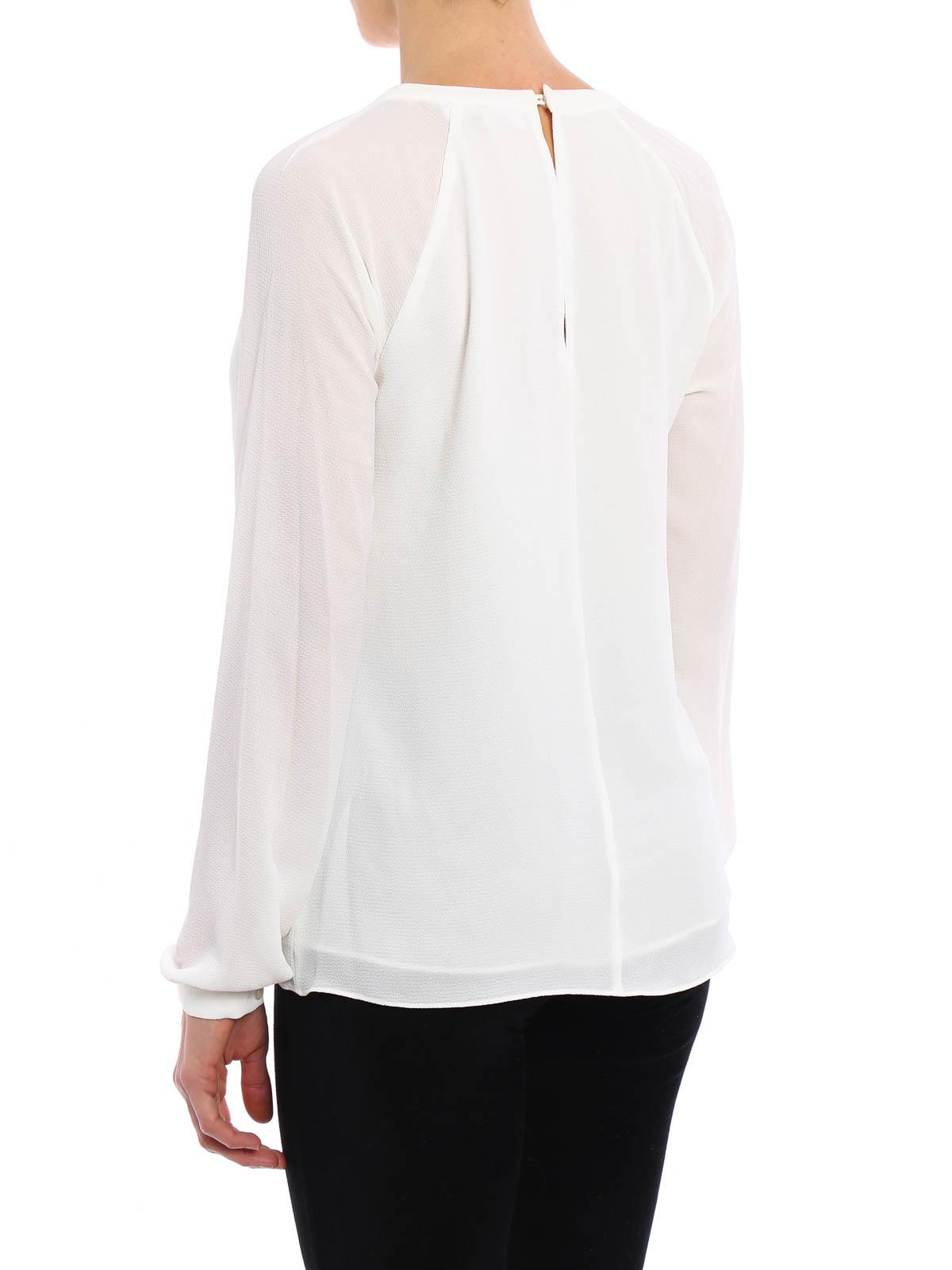 crepe raglan slit blouse by michael kors blouses ikrix. Black Bedroom Furniture Sets. Home Design Ideas
