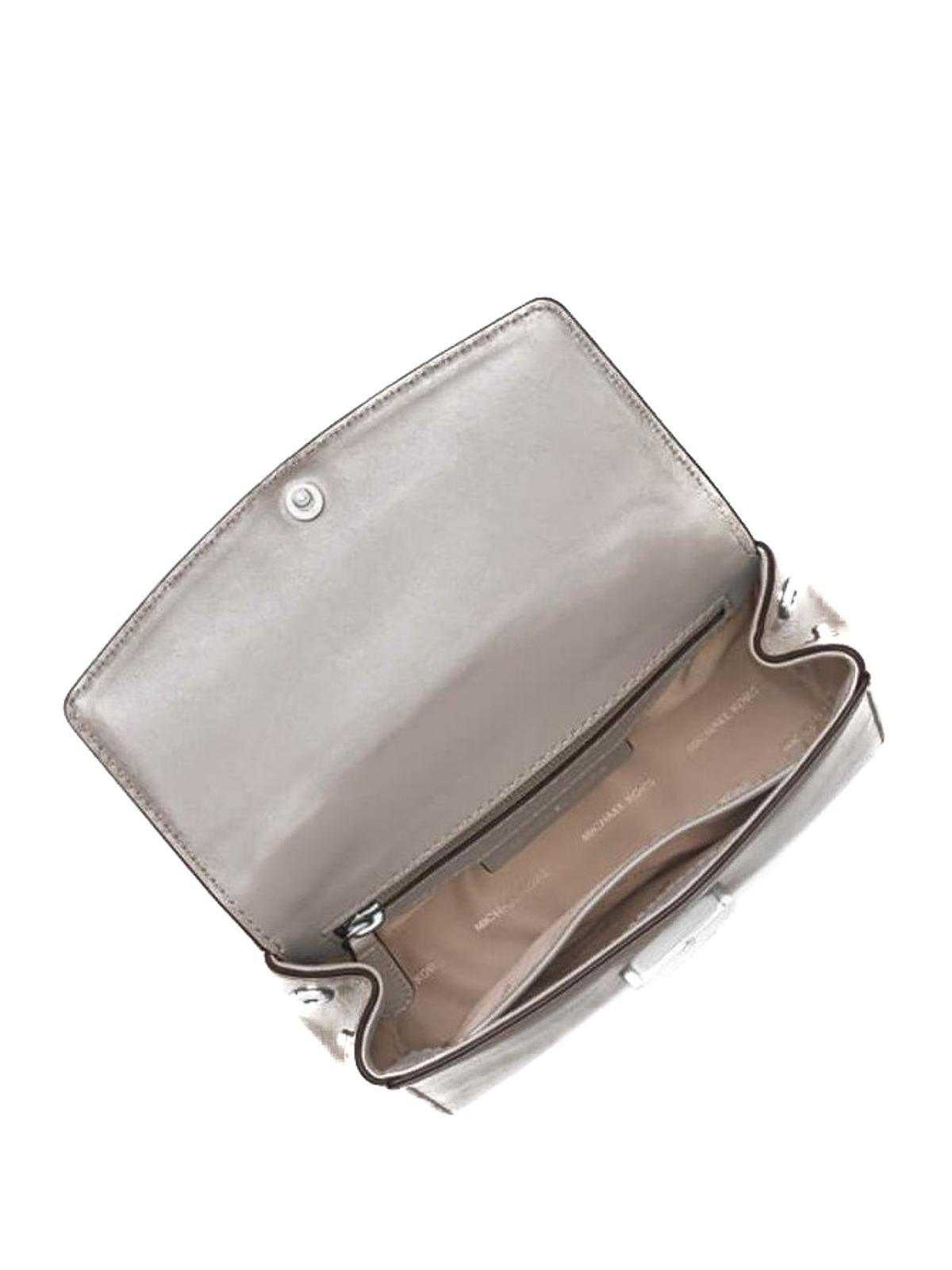 201cc41336a7 iKRIX MICHAEL KORS  cross body bags - Ava grey leather mini crossbody bag