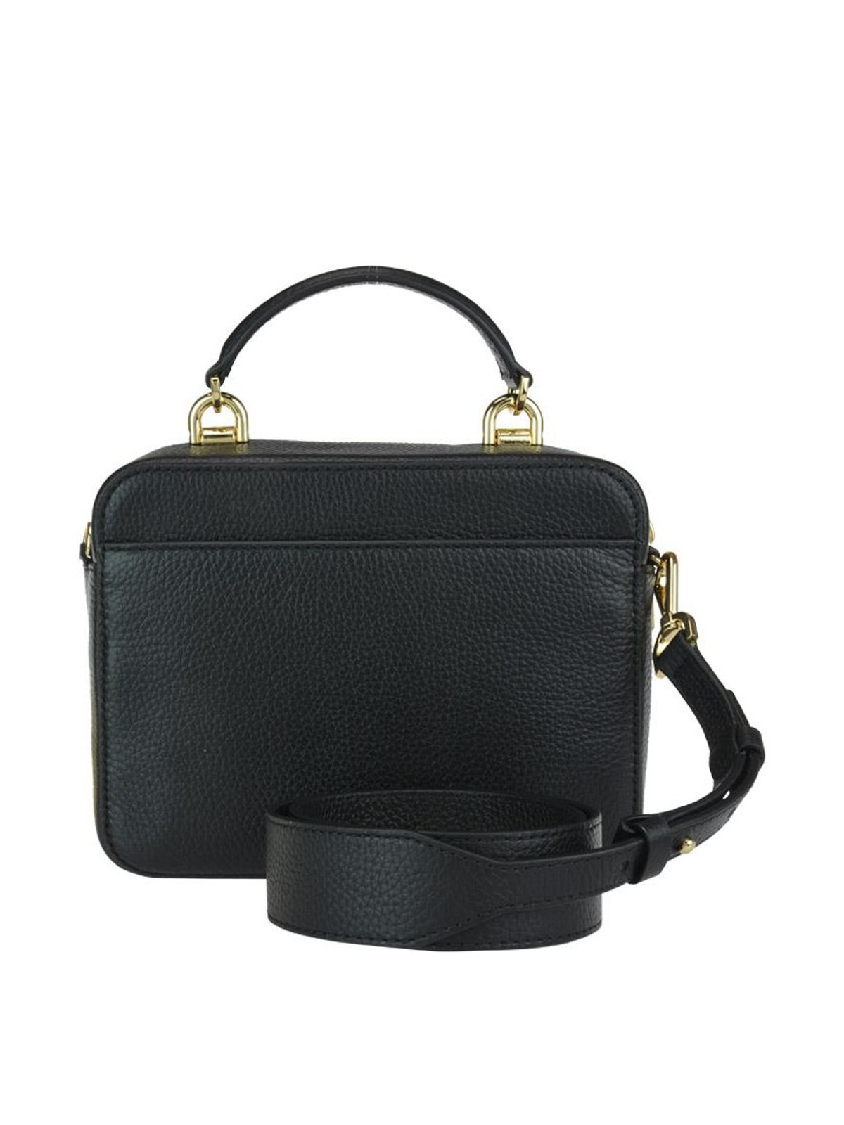 14ee5f04416a iKRIX MICHAEL KORS  cross body bags - Black grained leather briefcase style  bag