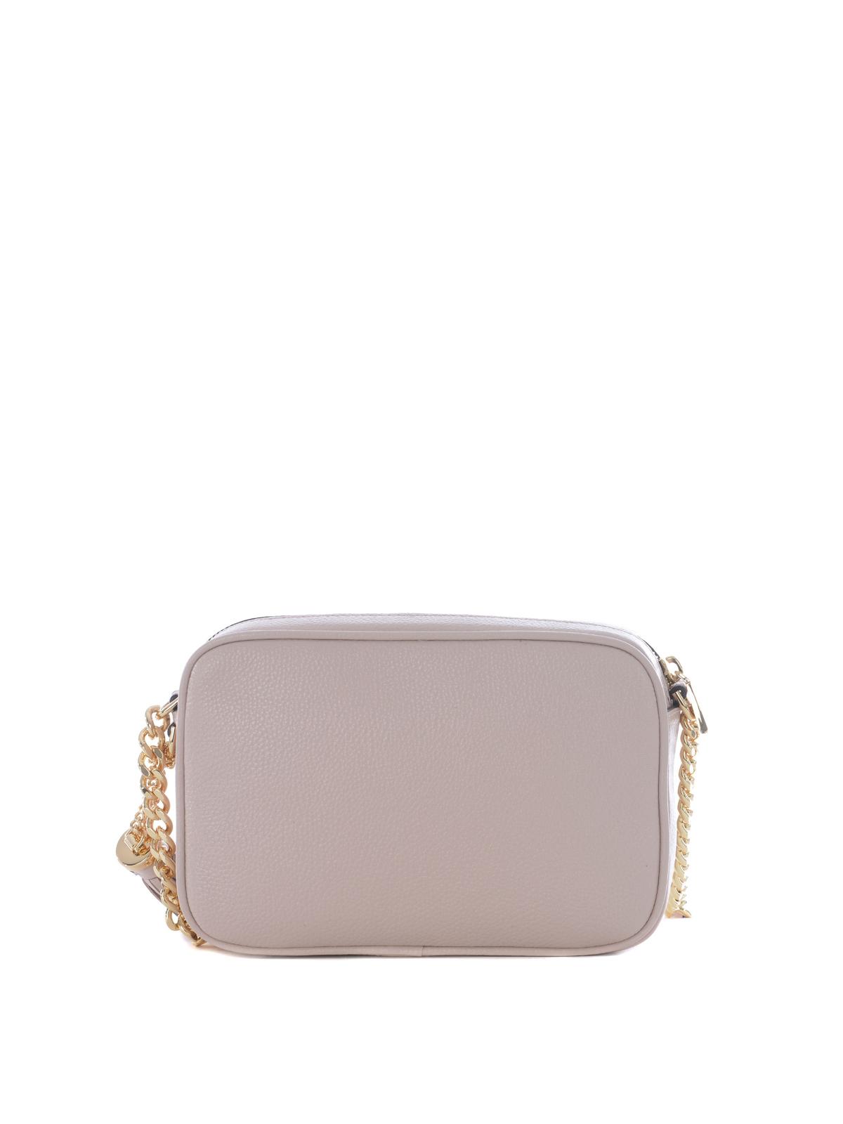Michael Kors Ginny pink leather camera bag cross body