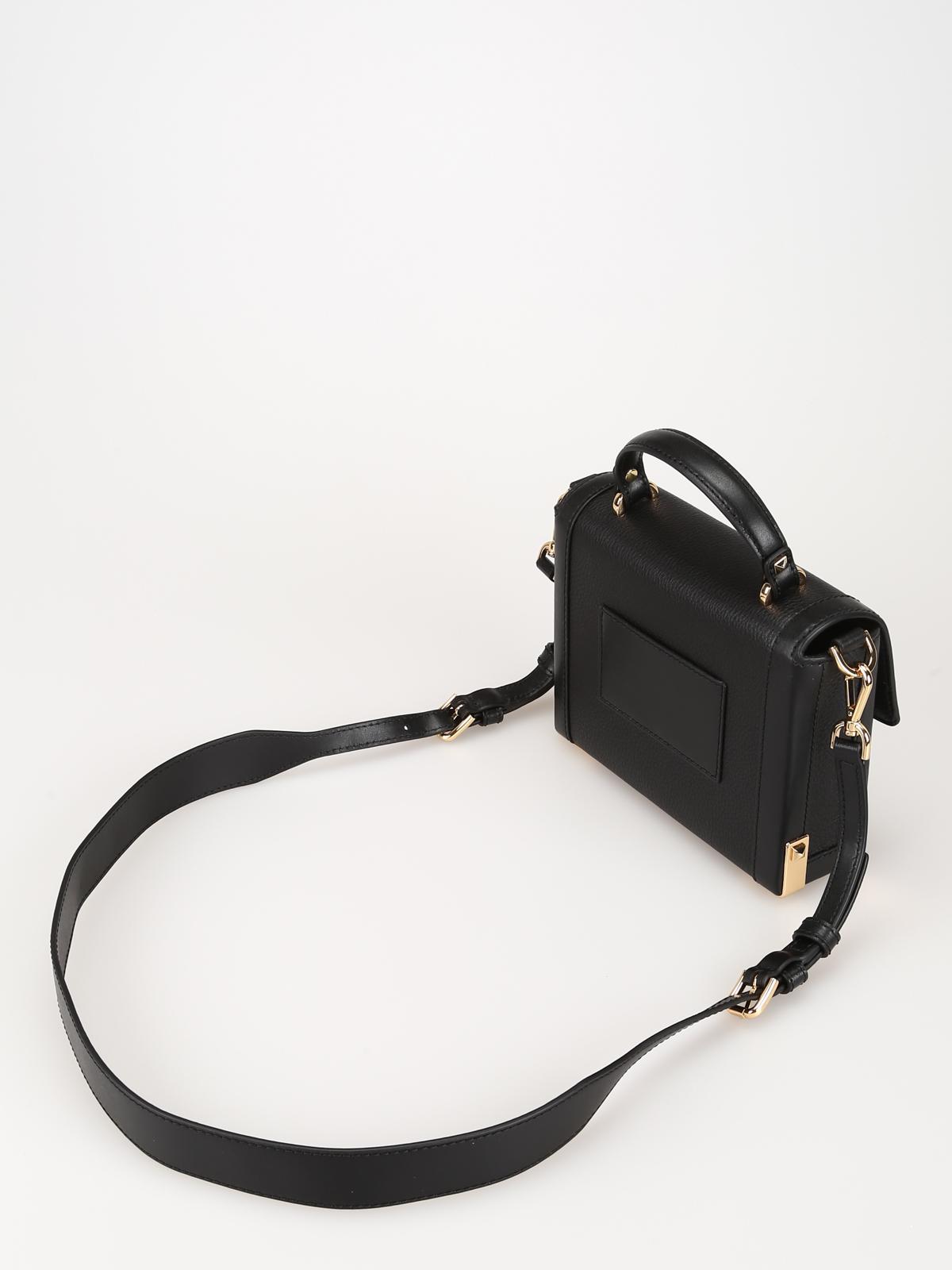 da260be6671 iKRIX MICHAEL KORS: cross body bags - Jayne black leather small trunk bag