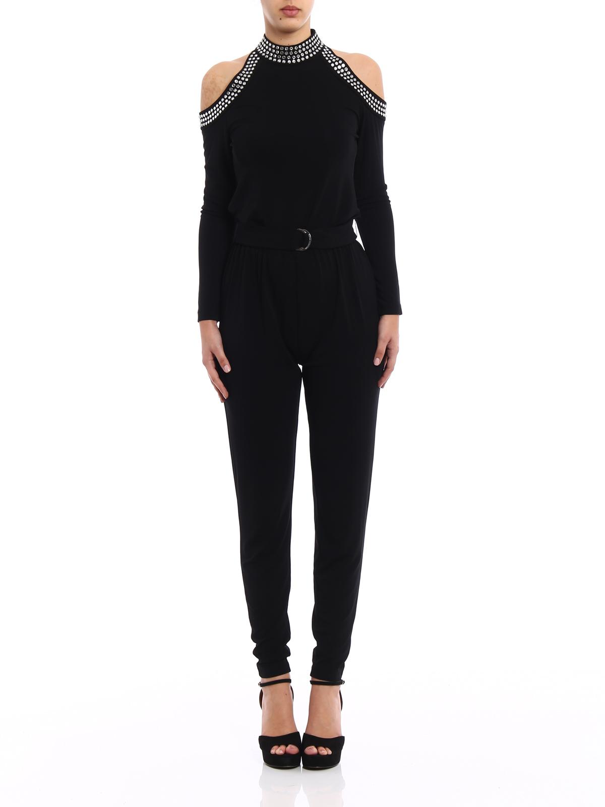 e8e7e51d8131 iKRIX MICHAEL KORS  jumpsuits - Embellished belted jersey jumpsuit