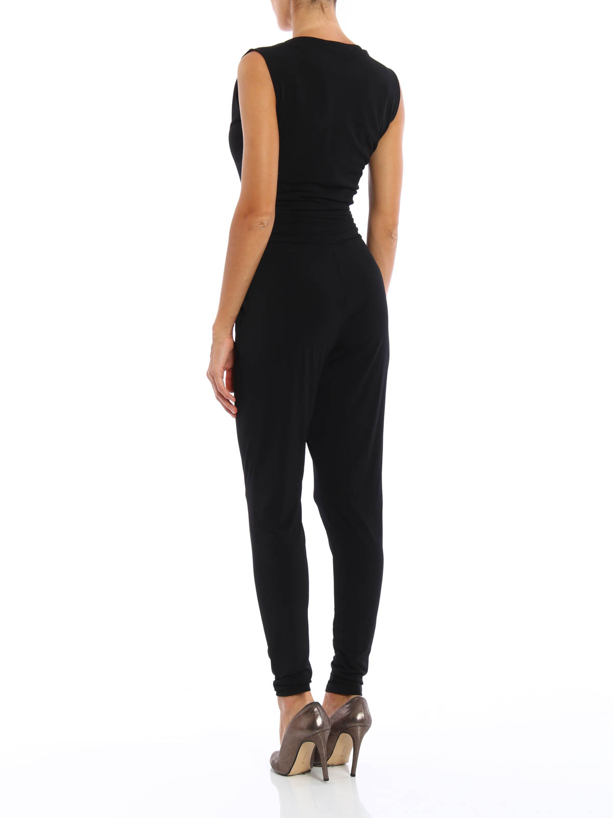 Michael Kors Sleeveless Jersey Jumpsuit Jumpsuits