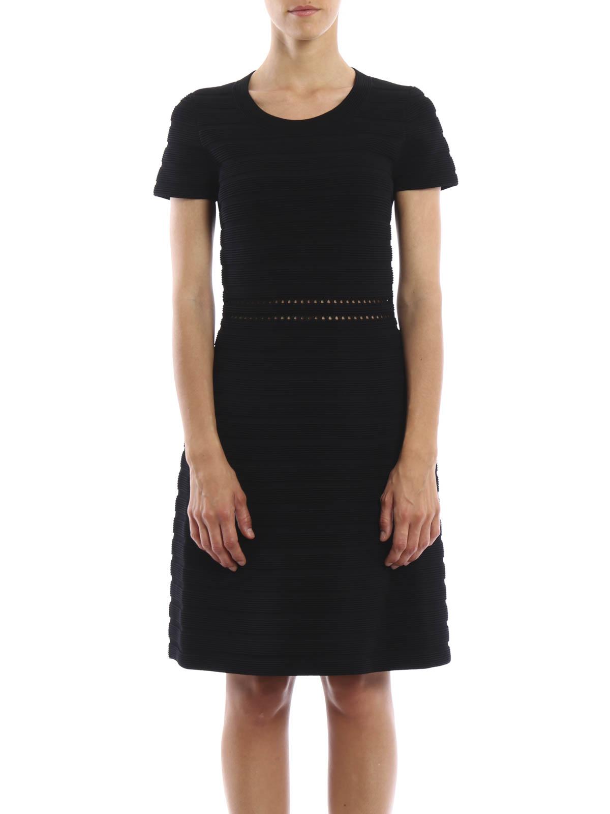 michael kors knielanges kleid schwarz knielange kleider mu68w9e3kk 001. Black Bedroom Furniture Sets. Home Design Ideas