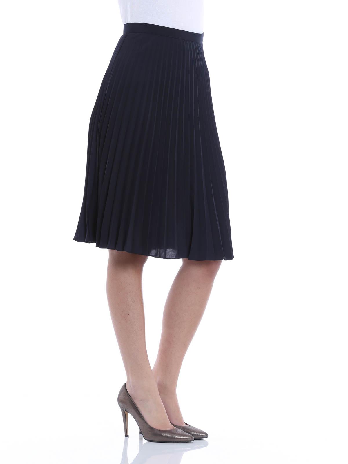 pleated skirt by michael kors knee length skirts midi