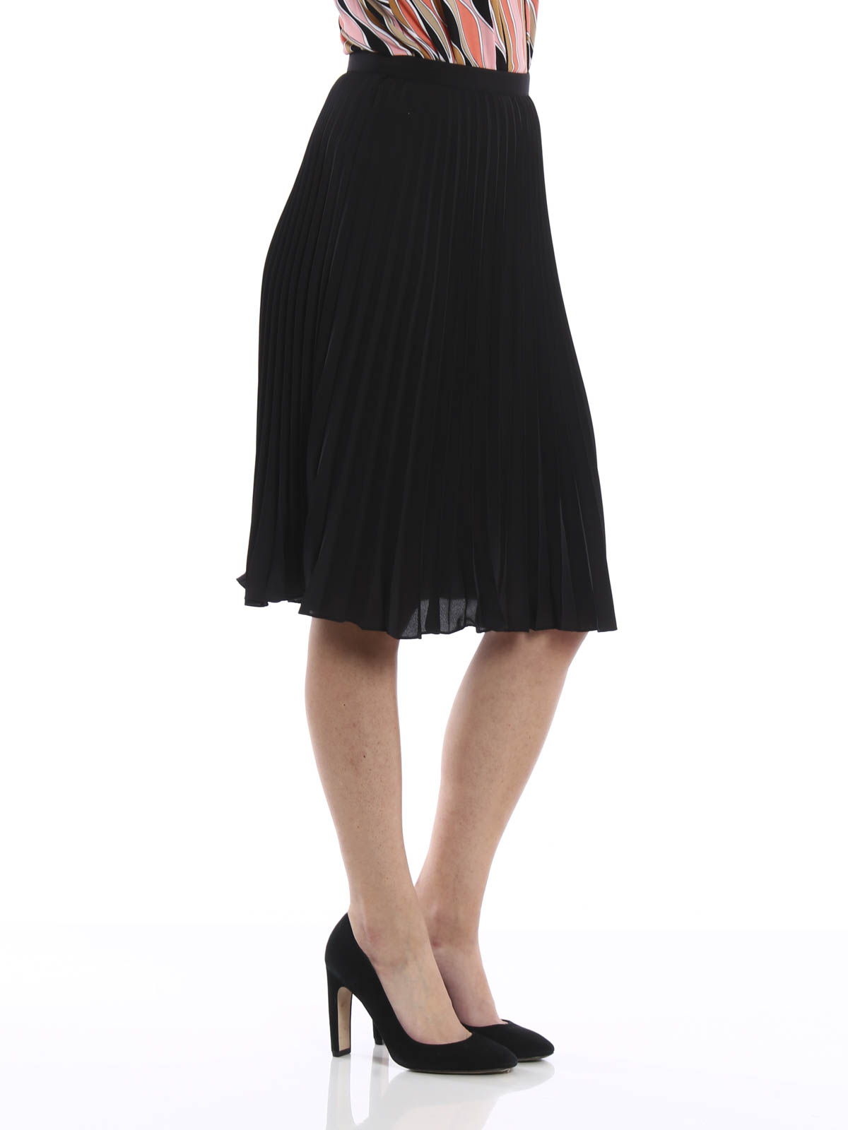 pleated skirt by michael kors knee length skirts midi