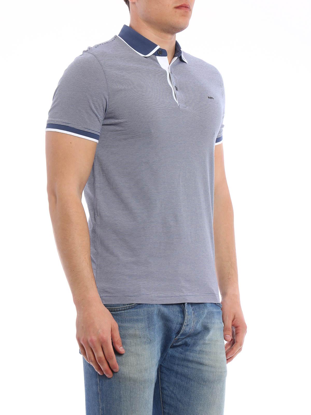 5496193b Michael Kors - Striped polo shirt - polo shirts - CS65FY21WV CHAMBRAY