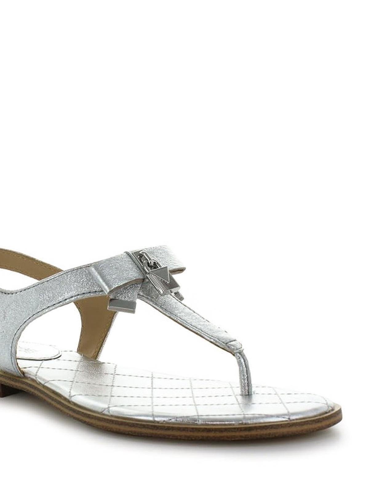 Michael Kors - Alice silver nappa thong