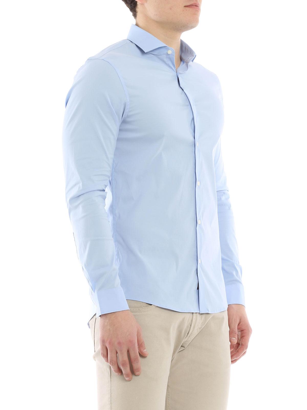 Stretch cotton slim fit shirt by michael kors shirts for Slim fit cotton shirts