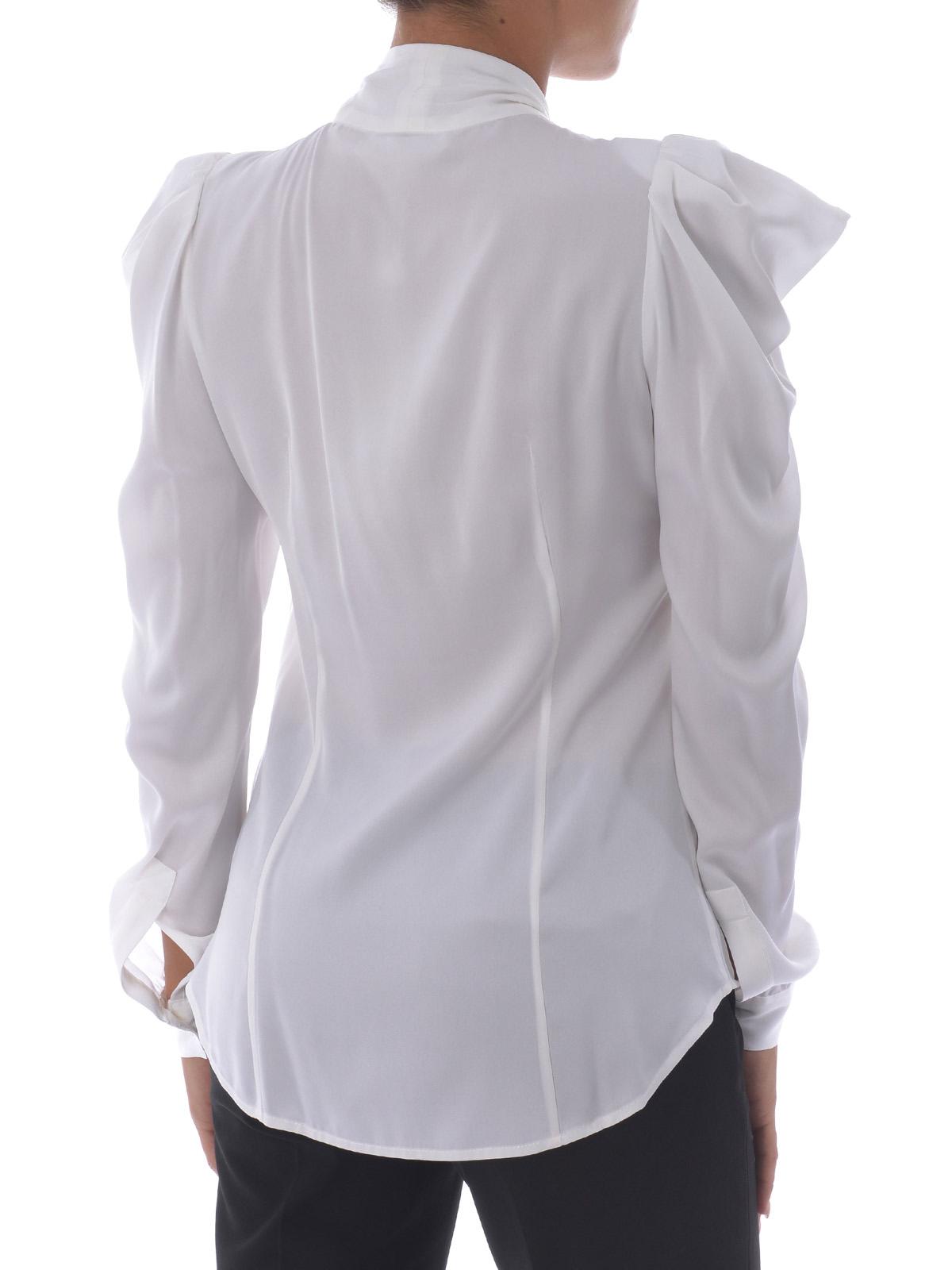 97c7d28e69854d iKRIX MICHAEL KORS: camicie - Camicia con fiocco in seta bianca