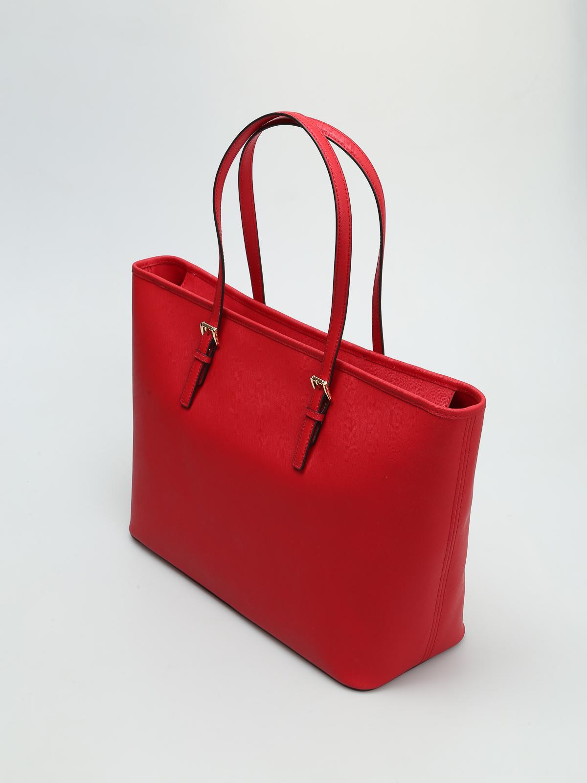 Michael Jet Set Shopping Kors Bolso Travel Bolsos Tote Rojo 8nwNOPkX0