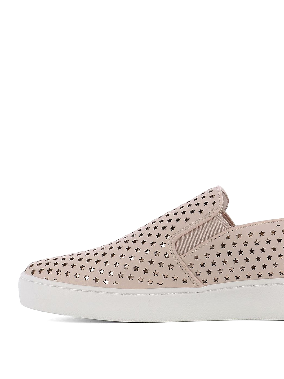 Light pink cut out stars slip-ons