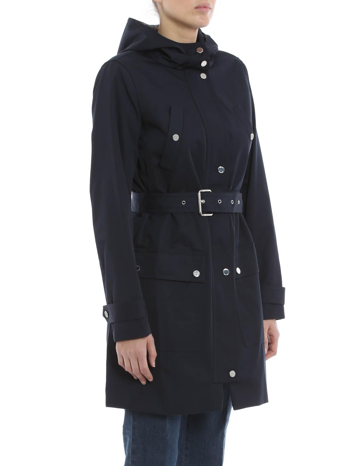 Dunkelblau Damen Michael Trenchcoat Fur Kors qSMzUpGV