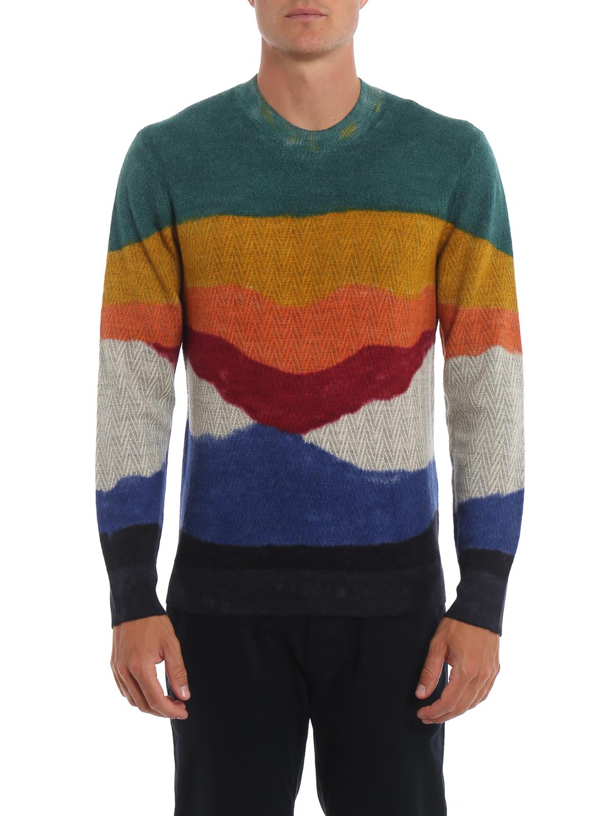 los angeles 0d87f 34476 Missoni - Maglione in alpaca Chevron color block - maglia ...
