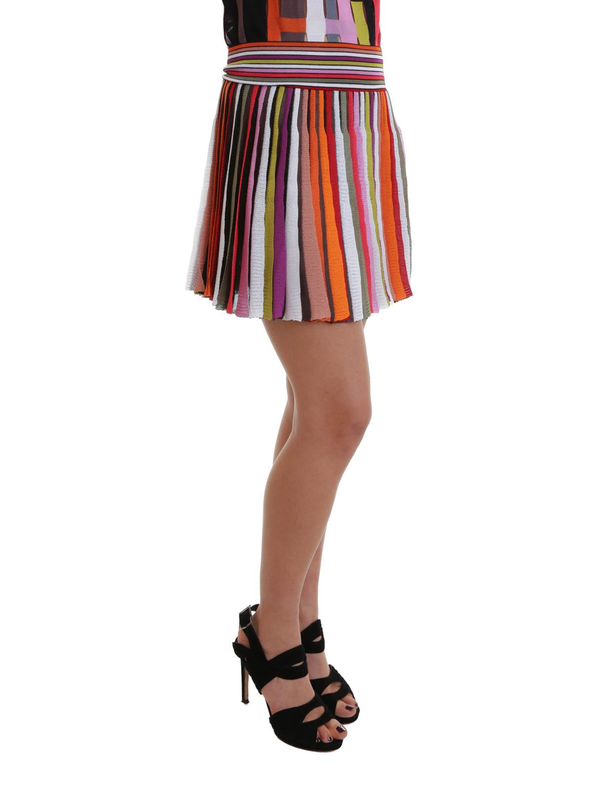 b69172582cf Missoni - Knitted pleated mini skirt - mini skirts - MD 194626 3681
