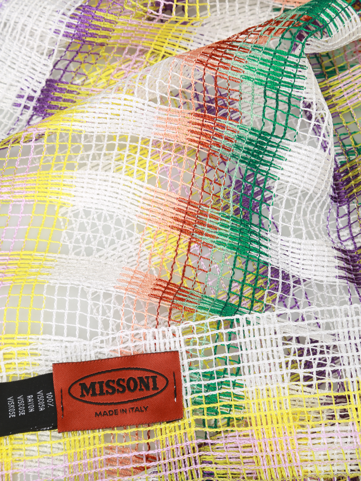 huge discount 3e3f3 cd0a8 Missoni - Sciarpa a quadri in rete - sciarpe e foulard ...
